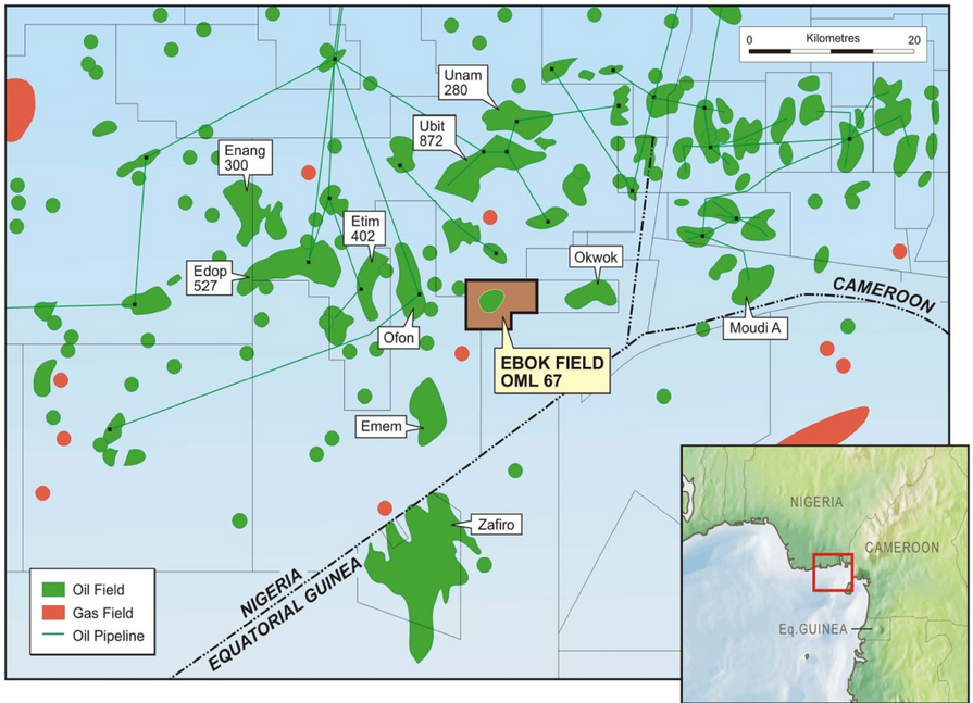 OERL Offshore - Ebok Field Map